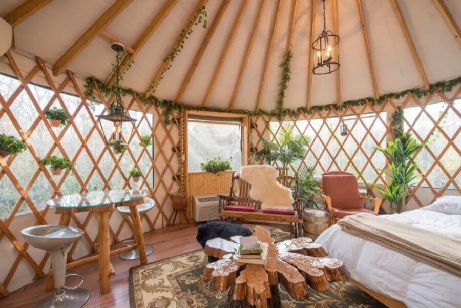 Amazing Treehouse Yurt Vacation Experience in Florida via Dan And Deborah Airbnb 002