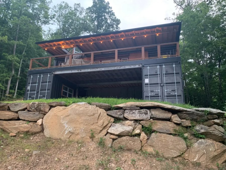Appalachian Container Cabin in Otto North Carolina on Airbnb Built by Backcountry Containers 004