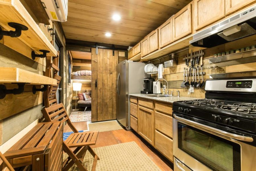 Blue Steel Shipping Container Tiny House Vacation in Dallas 002