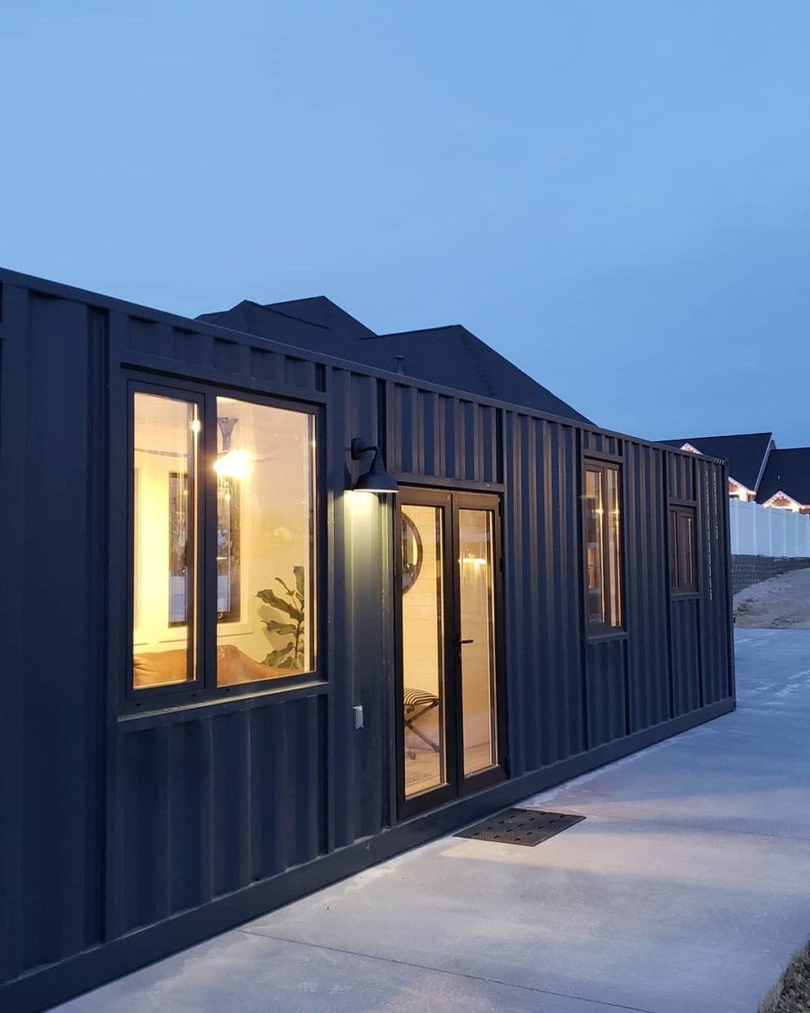 Brian Hawkins 40ft Shipping Container Tiny House for 80k Ships Worldwide 007