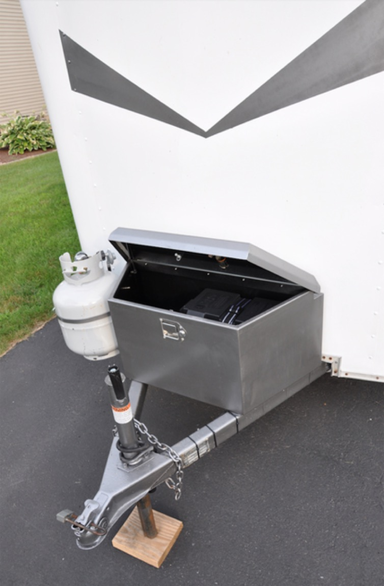 Couples Cargo Utility Trailer to Camper Conversion 0024