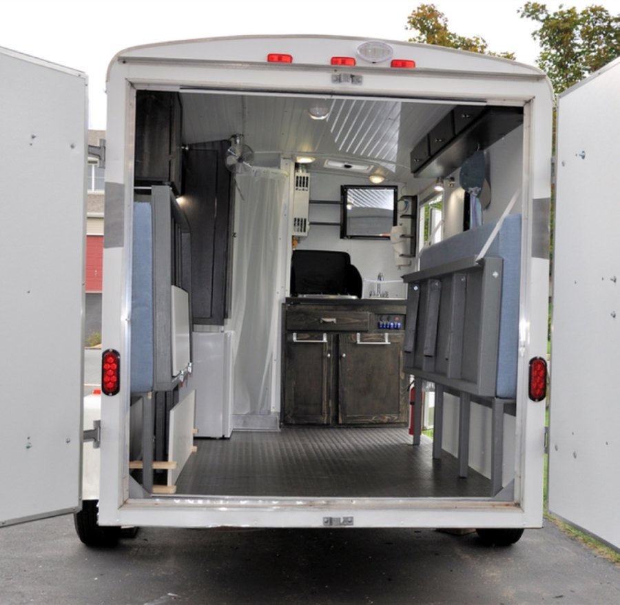 Couples Cargo Utility Trailer to Camper Conversion 005