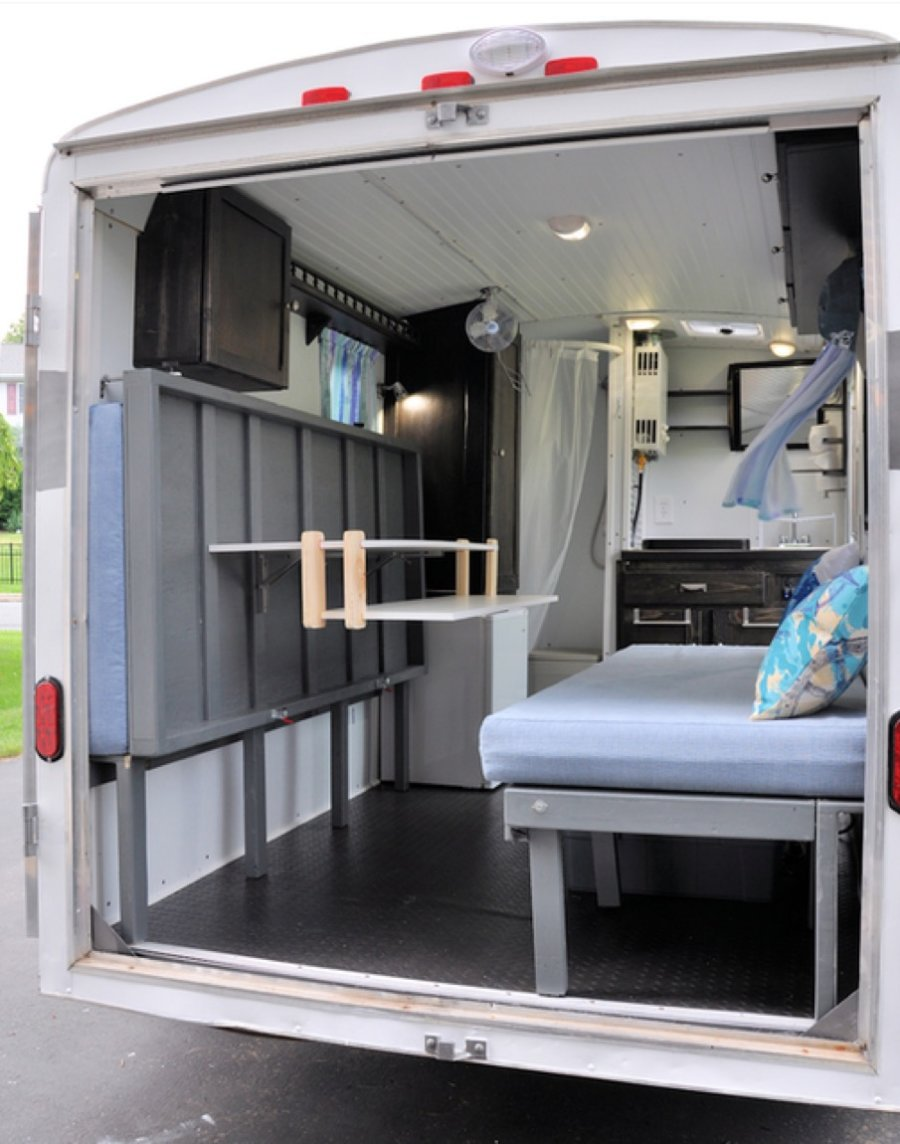 Couple S Cargo Trailer Camper Conversion