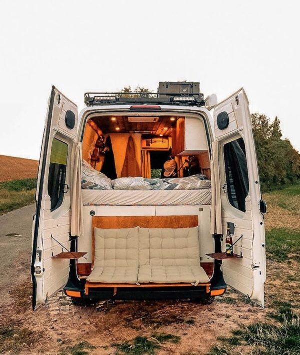 Couples Van Life with a Flip Down Tailgate Loveseat 001