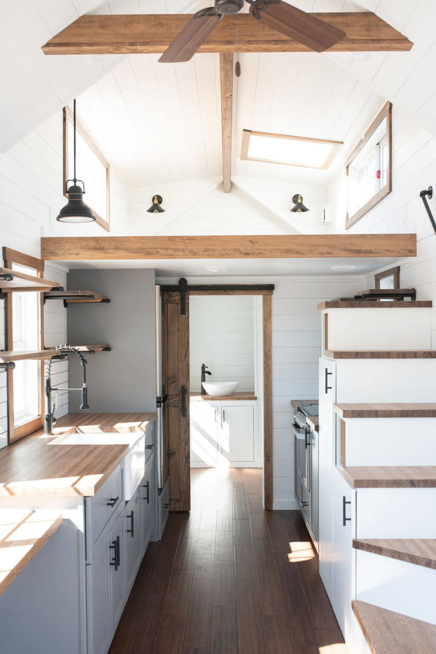 Crisp & Clean Farmhouse from Liberation Tiny Homes