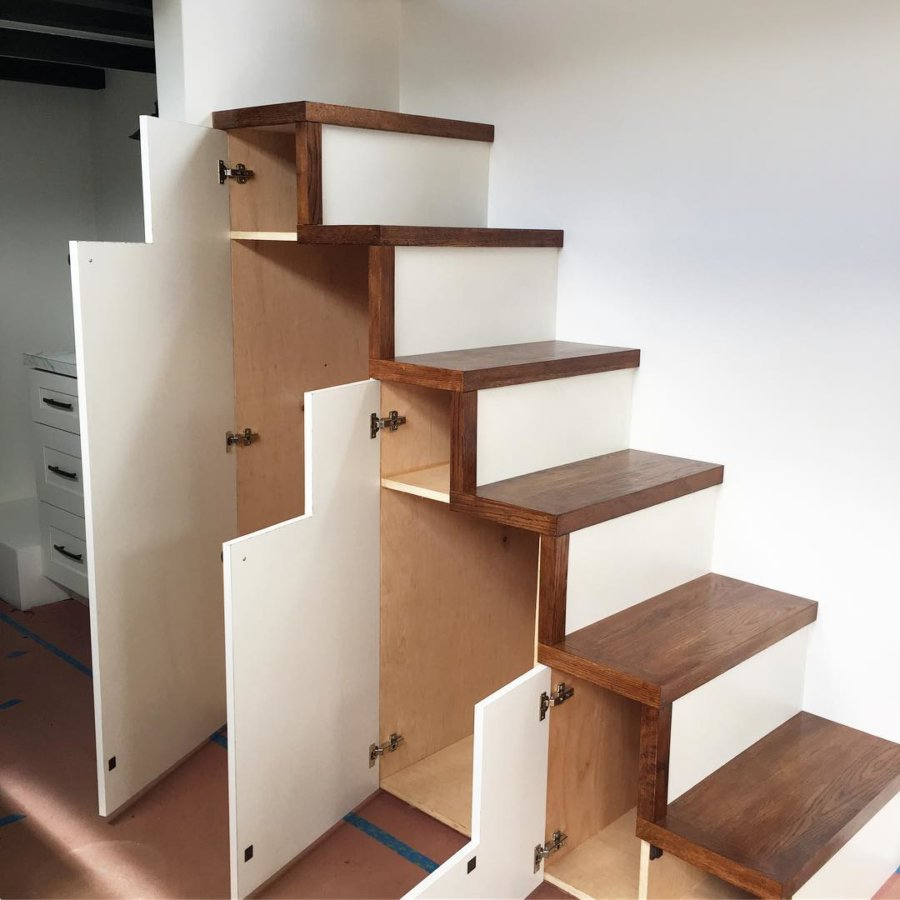 Staircase Storage Maui Tiny Home
