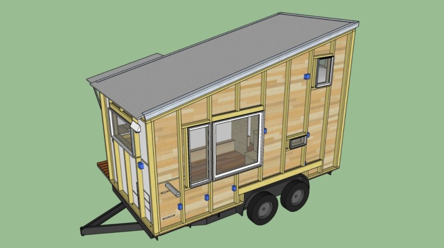 The Boulder 16ft Tiny House Plans by Rocky Mountain Tiny Houses 006