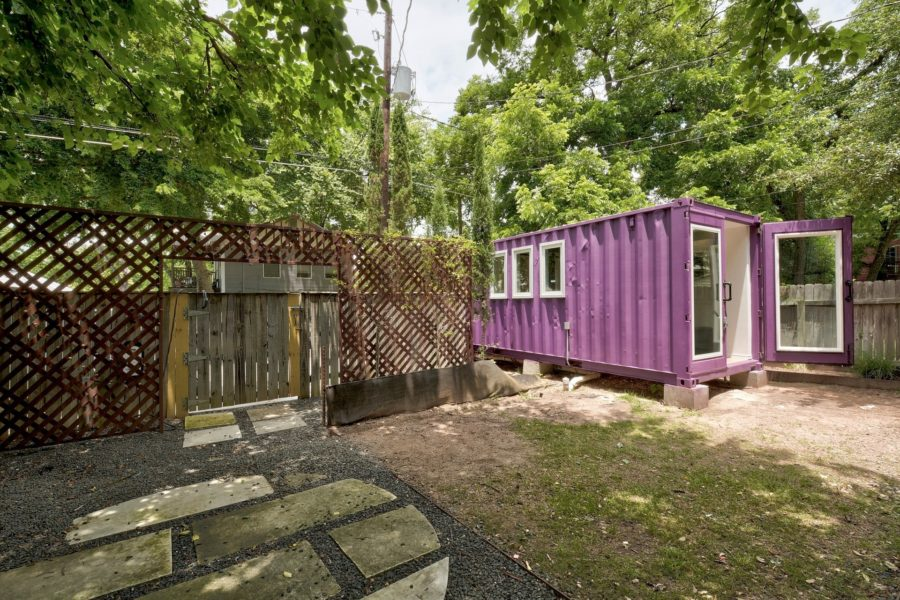 The Purple Monster Shipping Container Tiny House by Kountry Containers