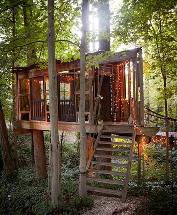 Three-Part Treehouse Cabin Vacation in Atlanta Georgia on Airbnb 009