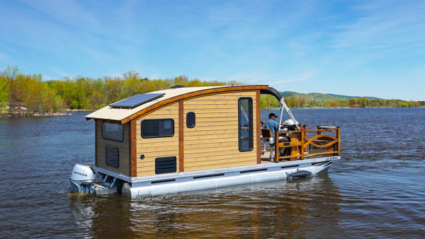 Woodworker Builds the Perfect Tiny Houseboat on future of boats, future armored vehicles, future navy boats, future space stations, future pontoon boats, future animals, future cruisers, future race boats, future boat design, future speed boats, future architecture concepts, future cargo boats, future boats yachts, future seaplanes, future atv, future technology, future townhouses, future power boats, future homes,
