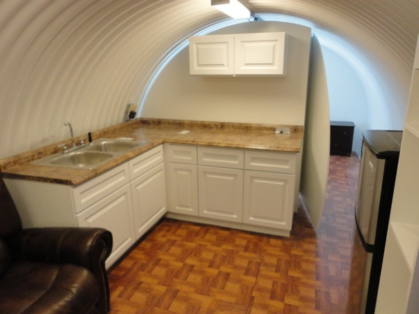 Corrugated Survival Shelter Underground Kitchen