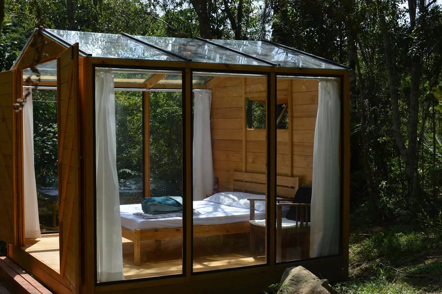 Glass Tiny House Getaway in Remote Brazilian Forest