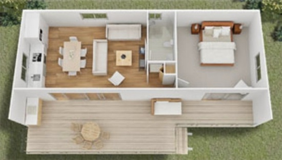 Jillaroo - Small House Floor plan and Design