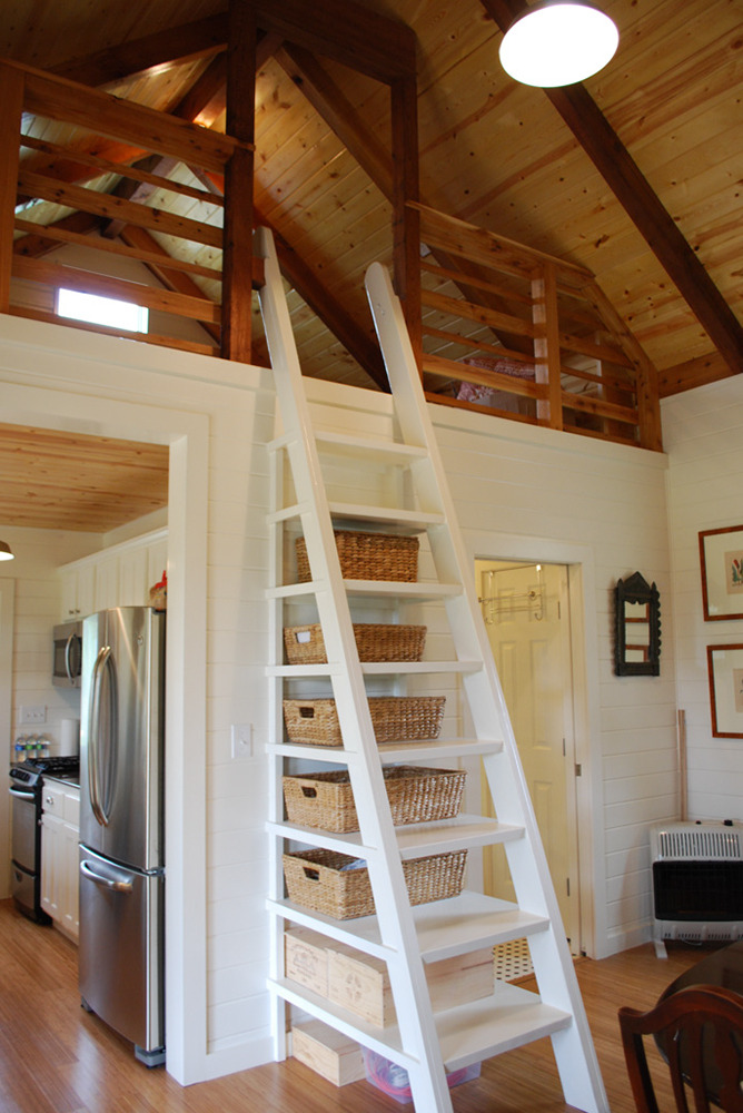 Sleeping Loft and Clever Ladder Storage