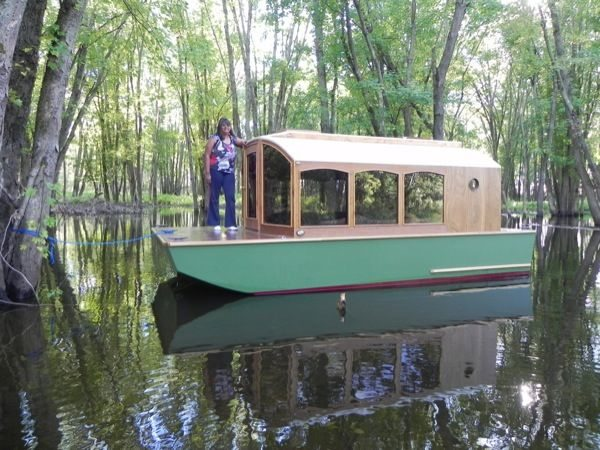 A DIY Micro Houseboat You Can Build Too with Tiny House Boat Plans