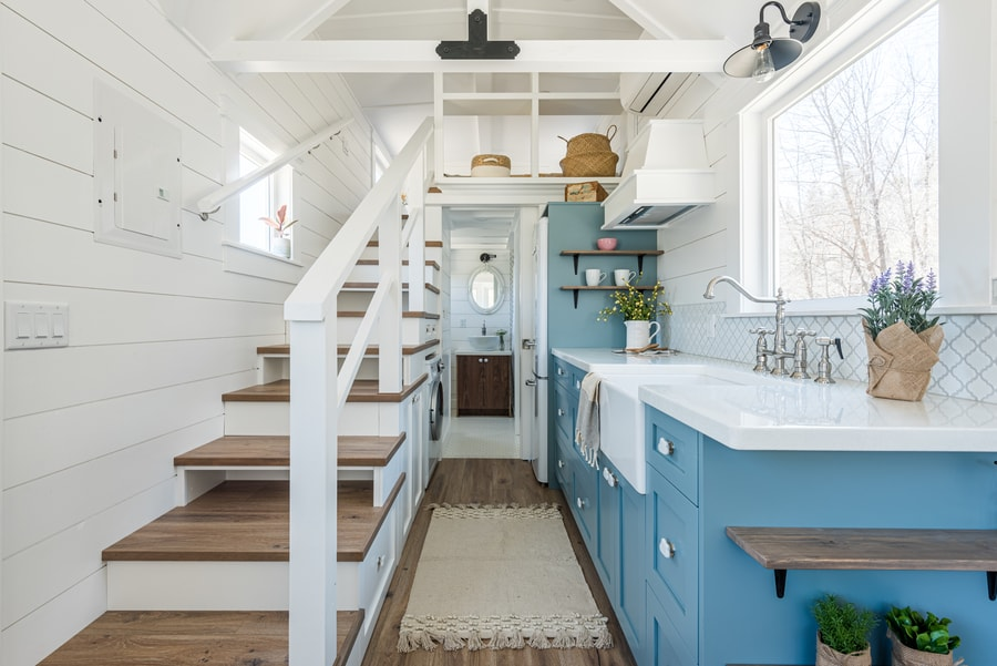 The Purple Heritage: Summit Tiny Homes Classic with a Pop of Color!